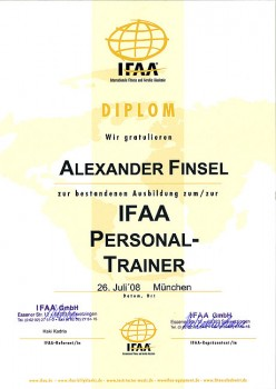 Diplom IFAA Personal Trainer